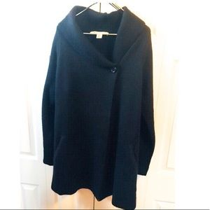 Max Studio Long Black Sweater or Light Jacket